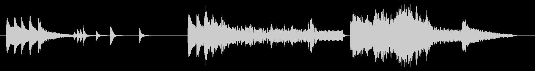 【和風】琴尺八三味線優美な短い曲・音ロゴの未再生の波形