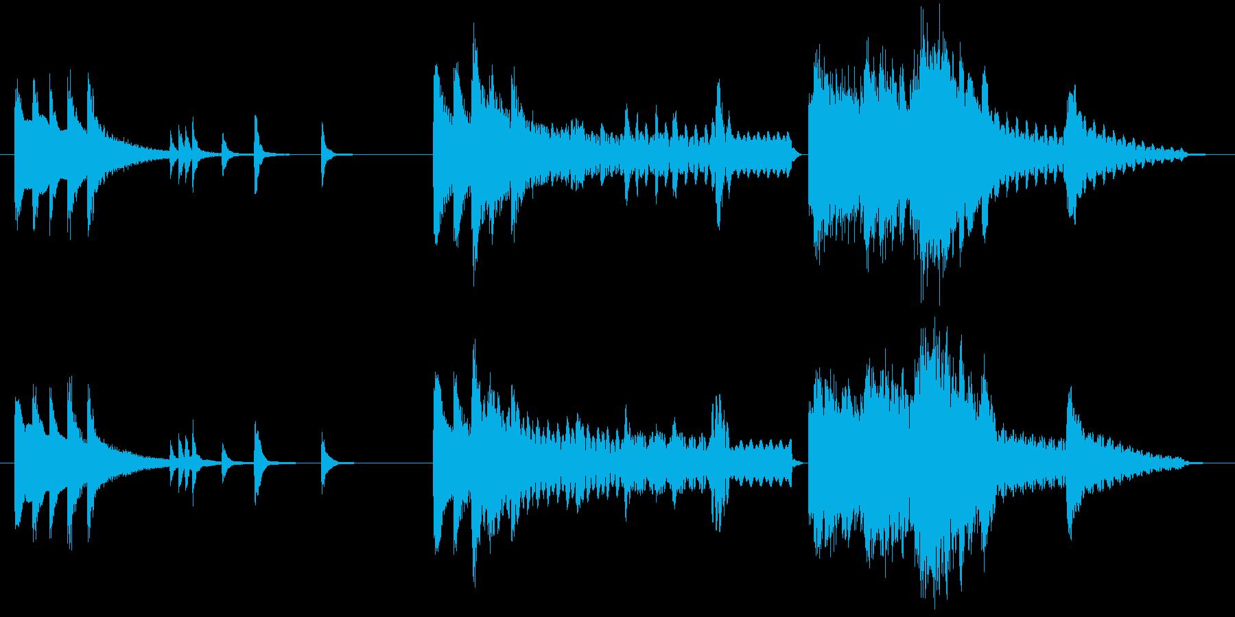 【和風】琴尺八三味線優美な短い曲・音ロゴの再生済みの波形