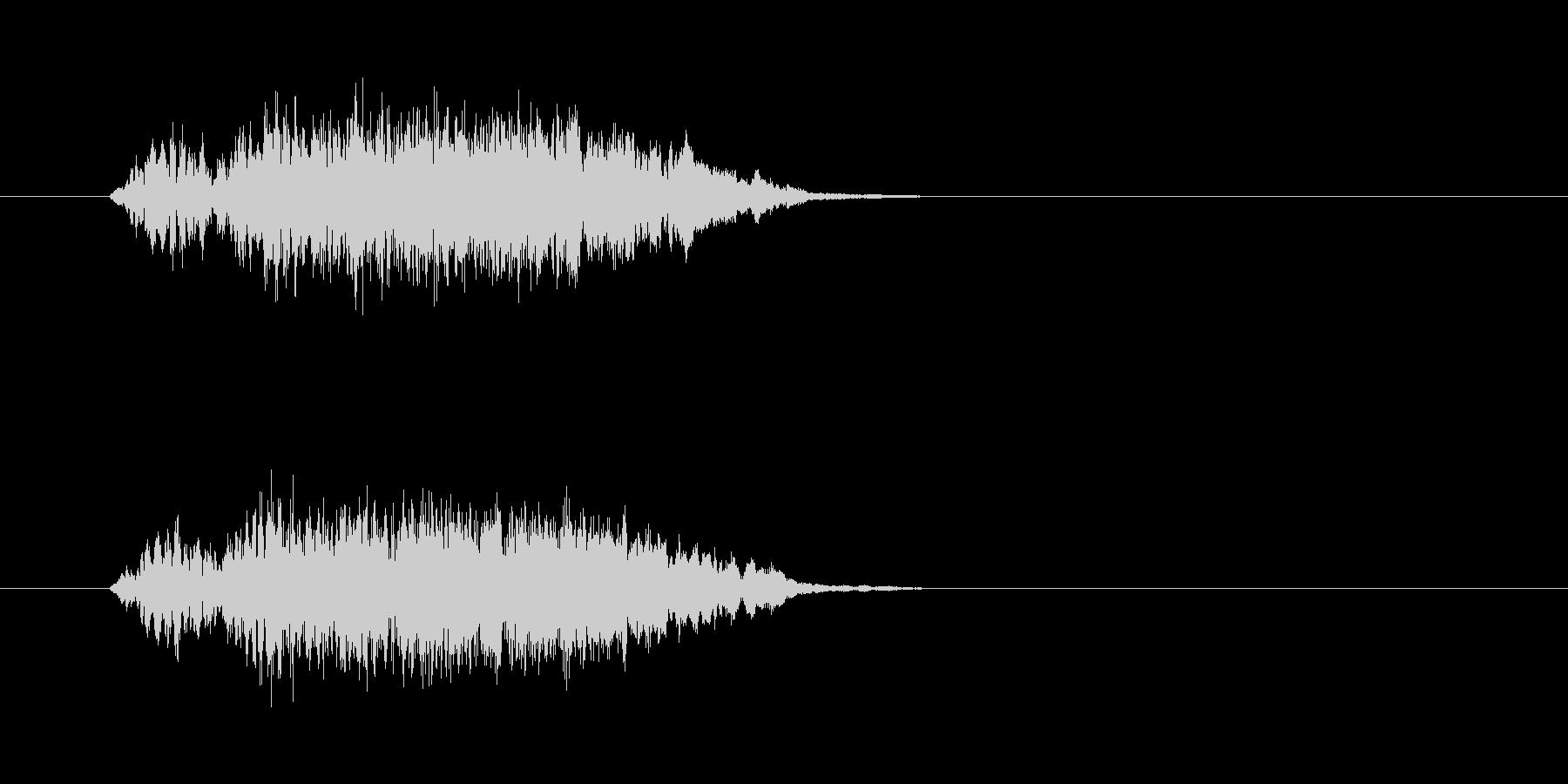 魔法系効果音の未再生の波形