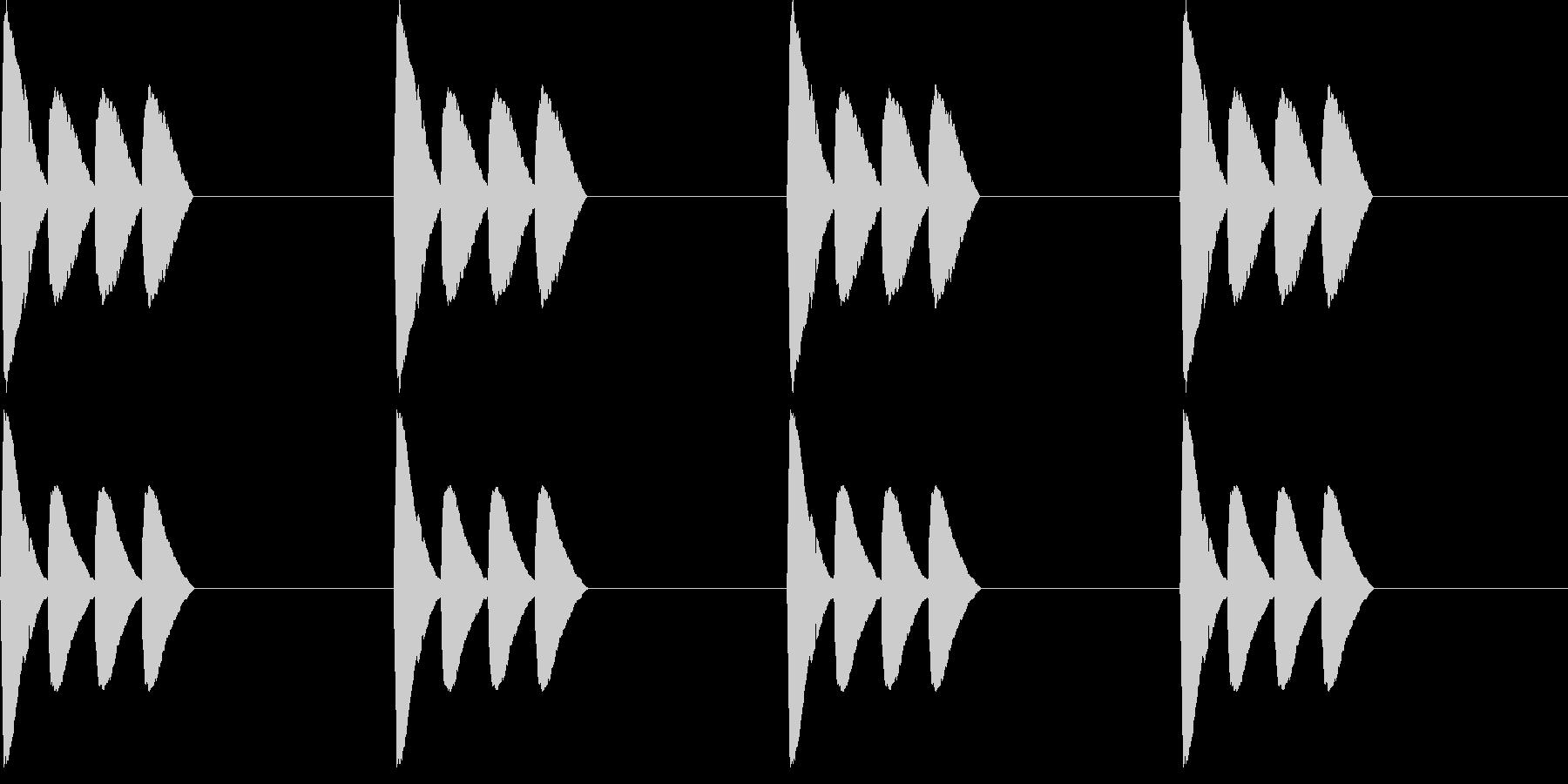 【アラーム】電子音 - ピピピピッの未再生の波形