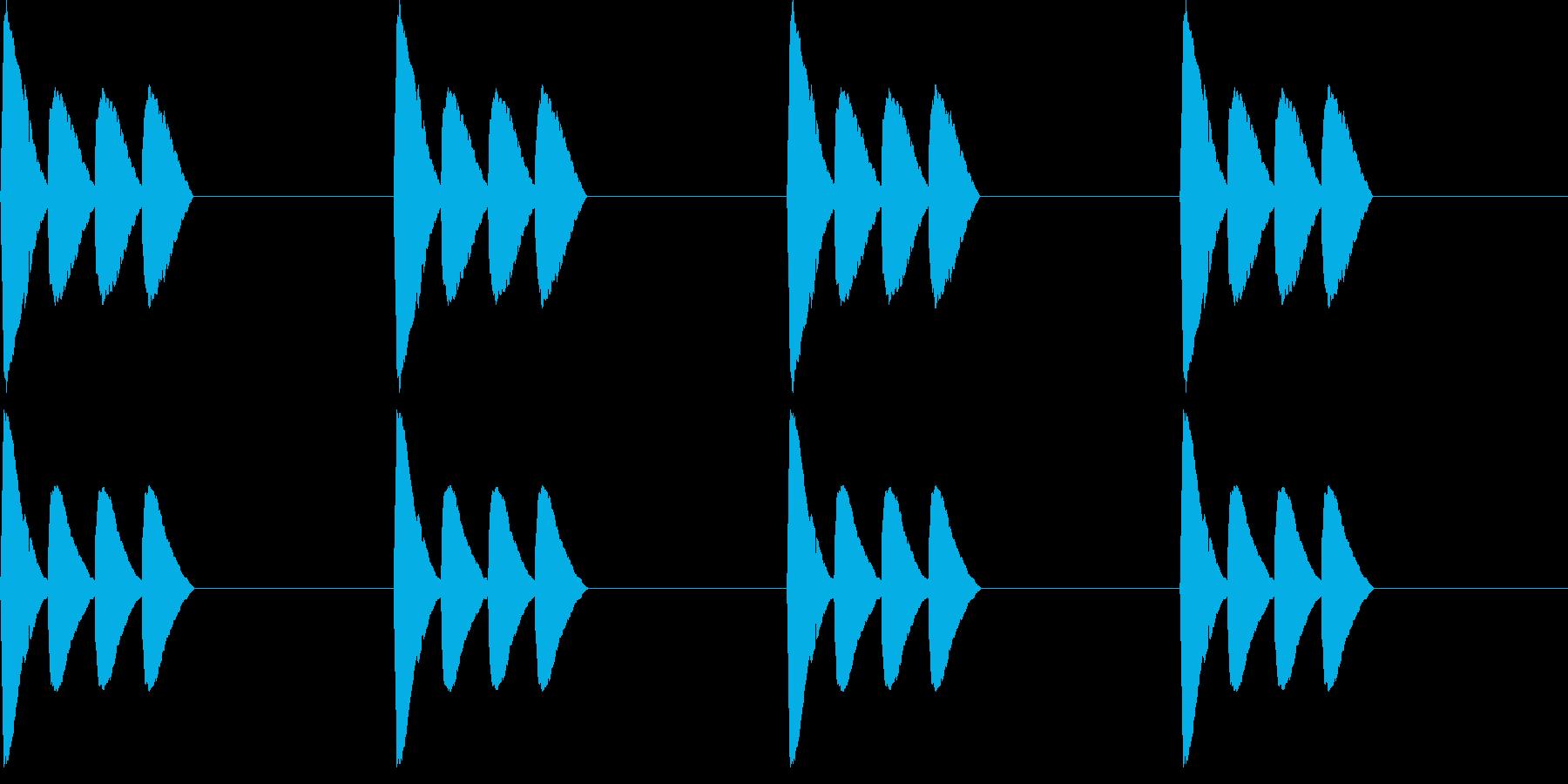 【アラーム】電子音 - ピピピピッの再生済みの波形