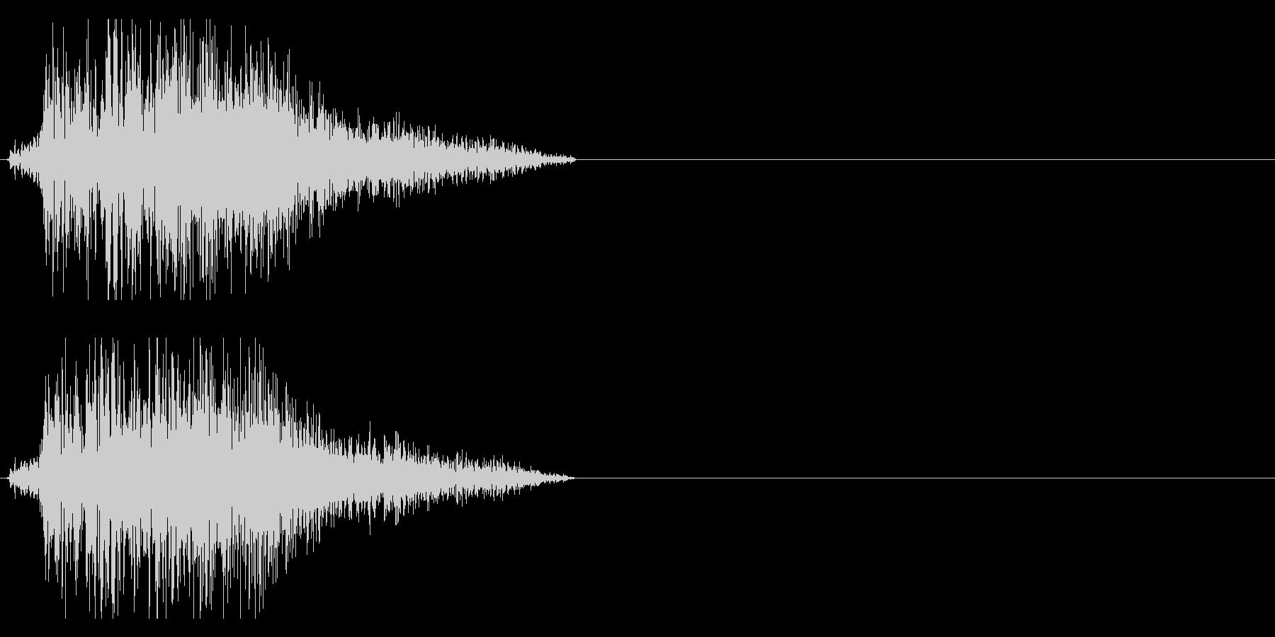 バシィッ 斬撃音 刀などの未再生の波形