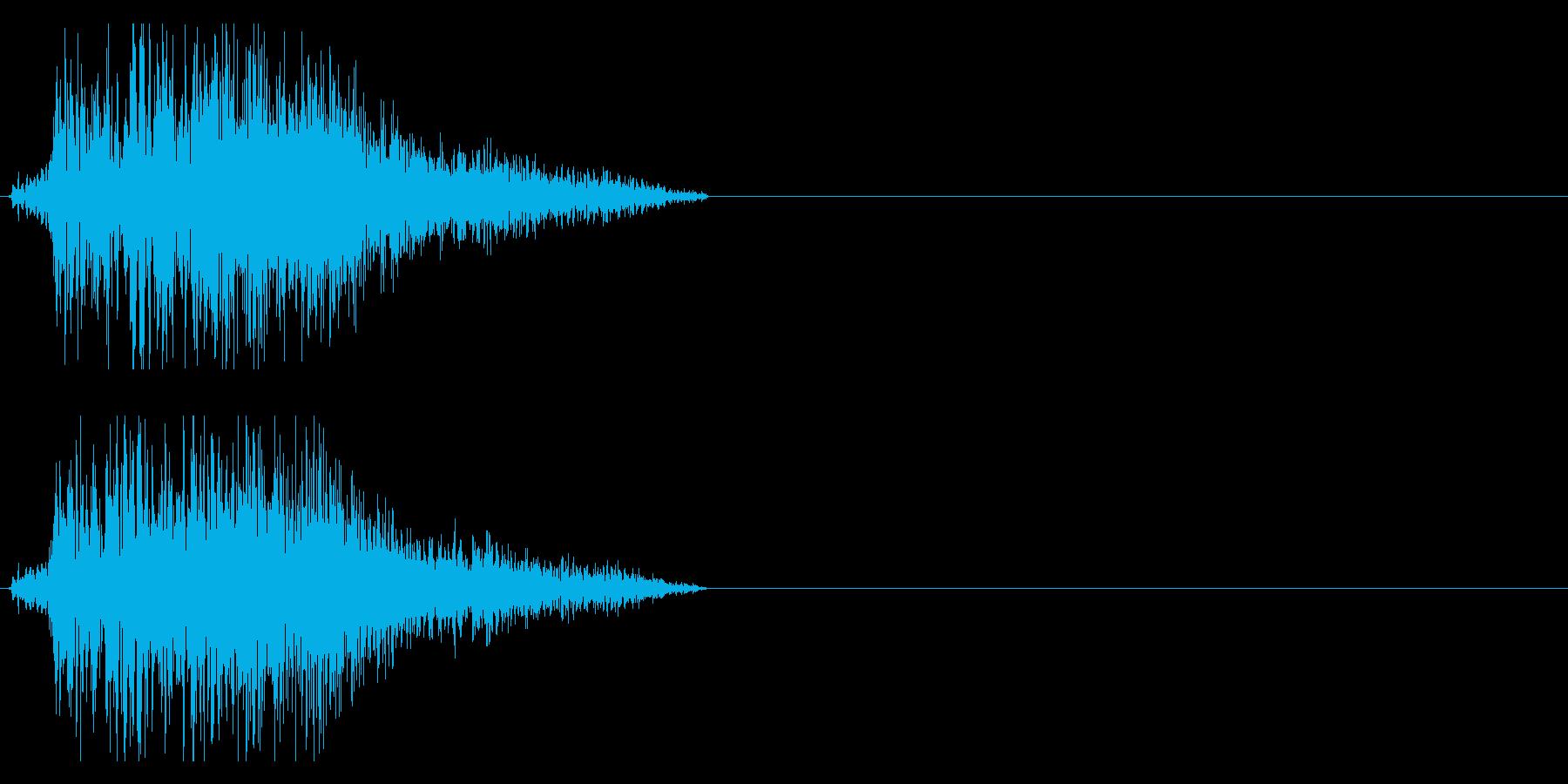 バシィッ 斬撃音 刀などの再生済みの波形