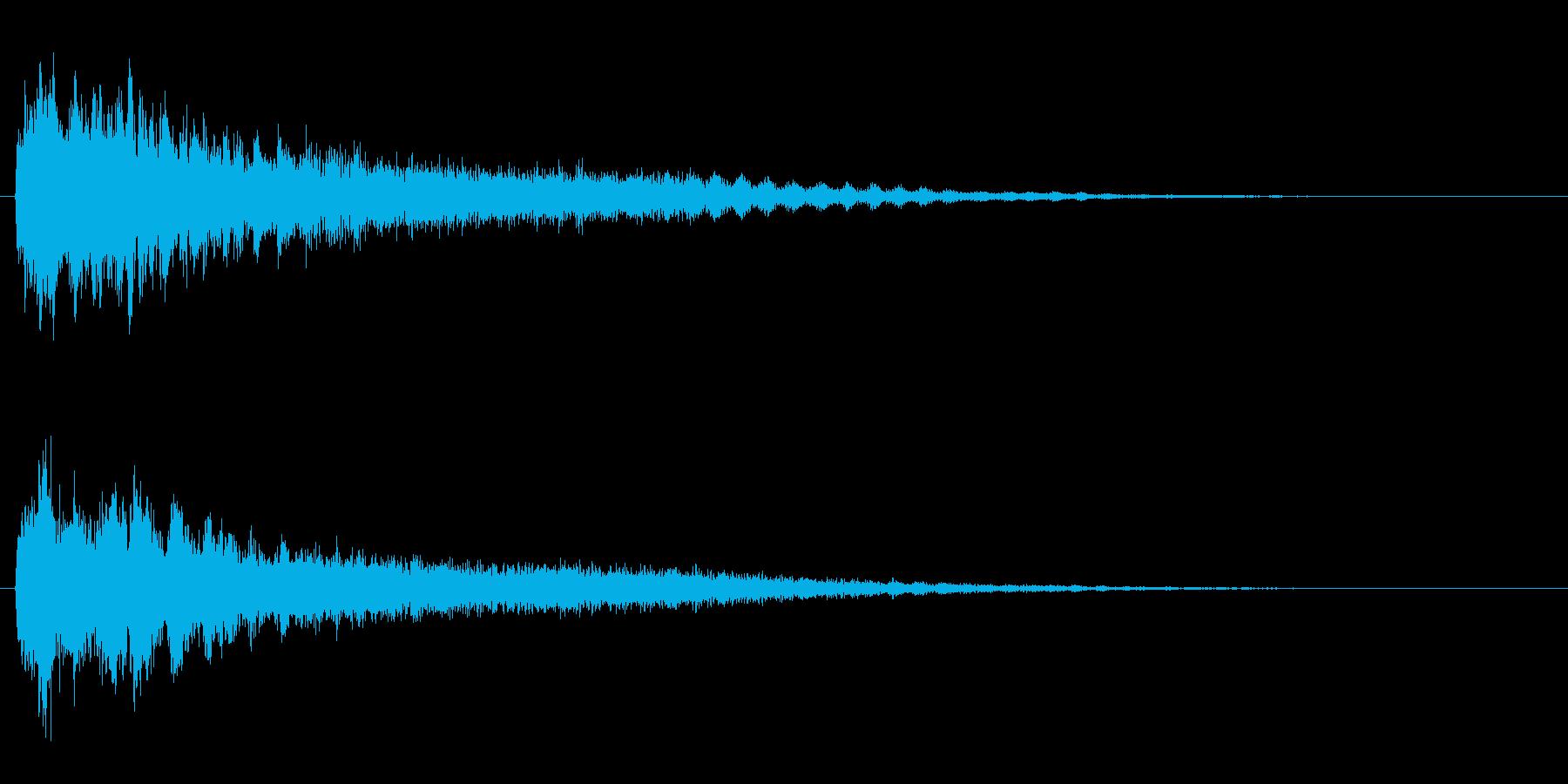 サスペンスに最適!ピアノの弦を弄ぶ音33の再生済みの波形