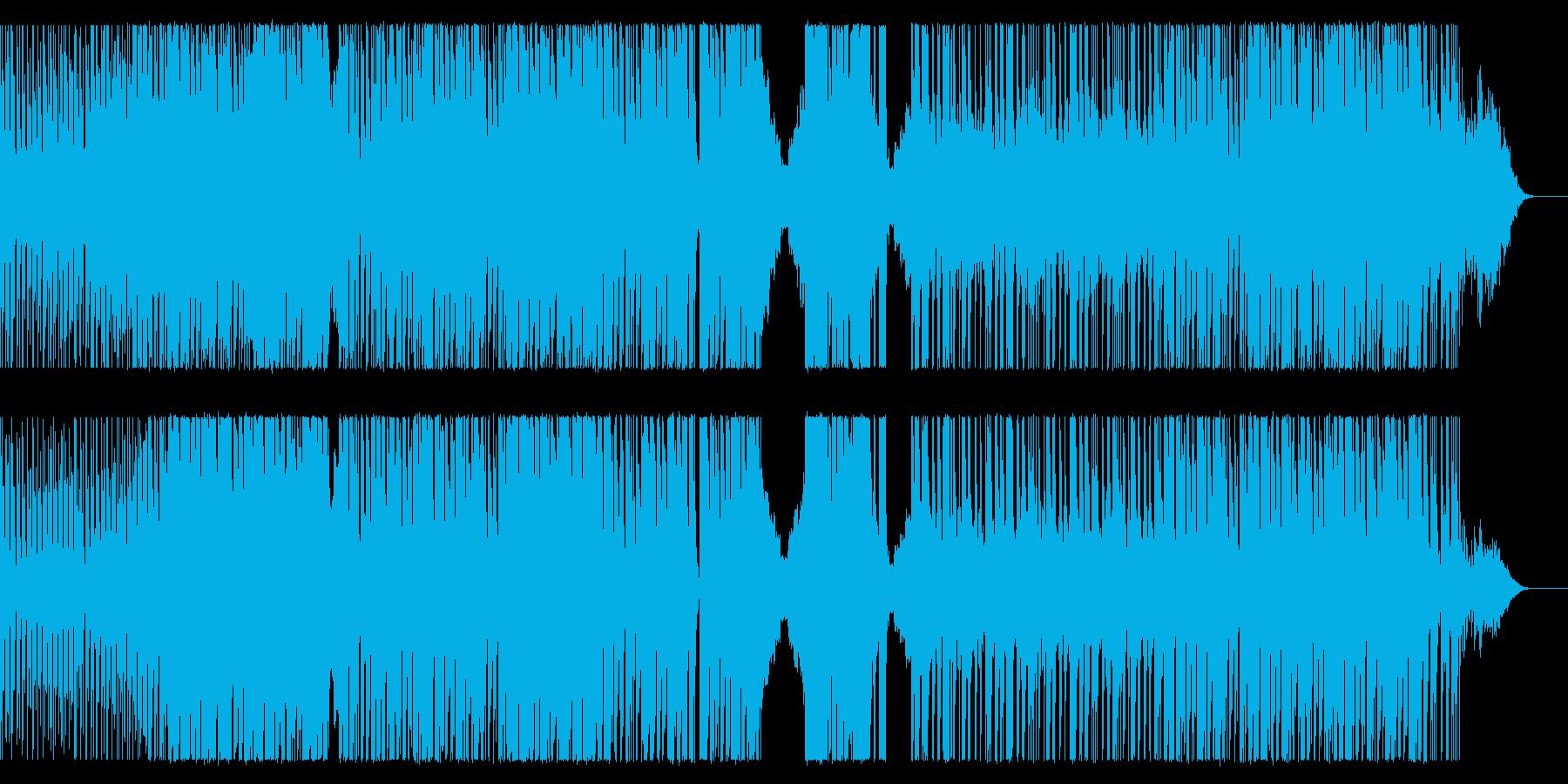 EDM系のHIPHOPビートの再生済みの波形