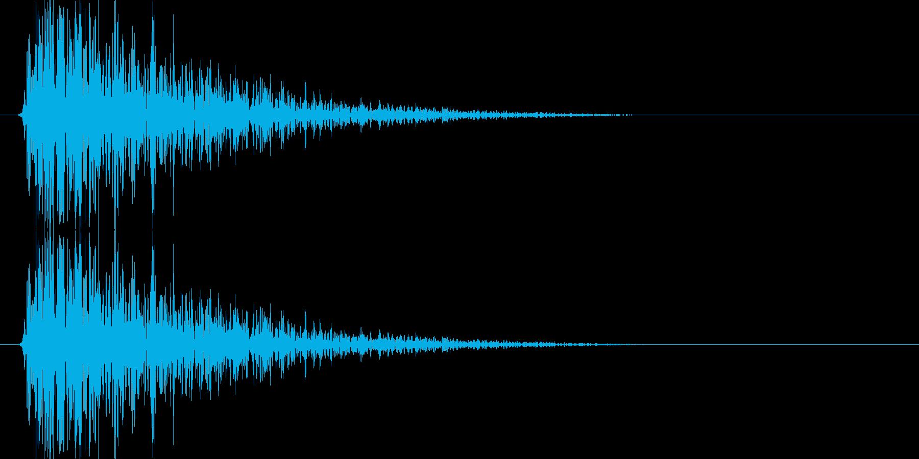 ボウーッ↑(火器攻撃音、シューティング)の再生済みの波形