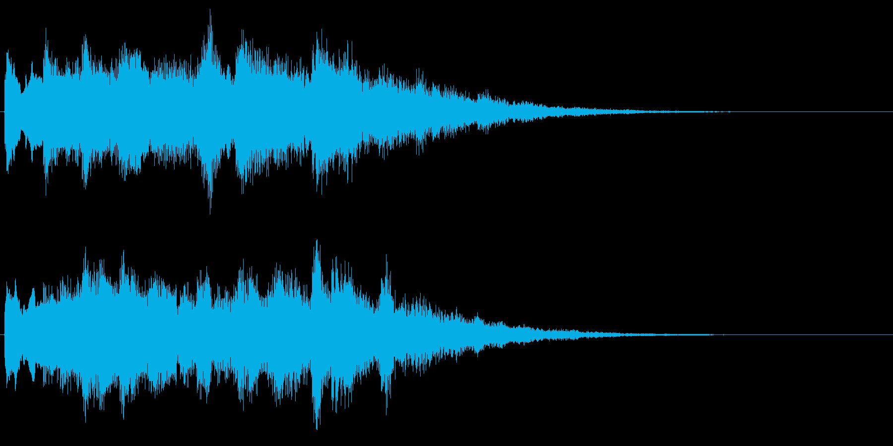ベル系の転回音 優しい音 サウンドロゴの再生済みの波形