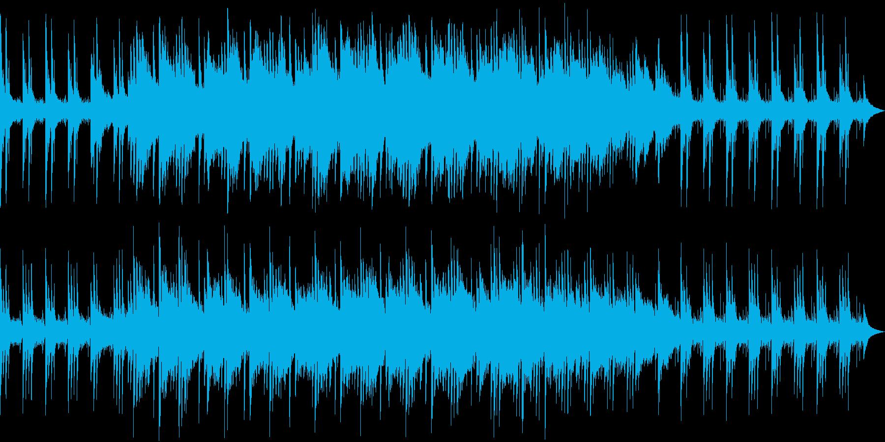 和風エッセンスのあるゆっくりなBGMの再生済みの波形