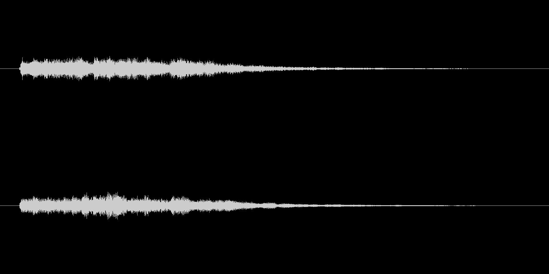 明るいシンセベルのサウンドロゴ2の未再生の波形