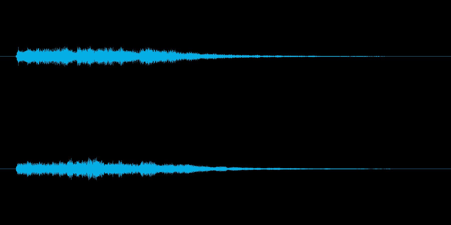 明るいシンセベルのサウンドロゴ2の再生済みの波形