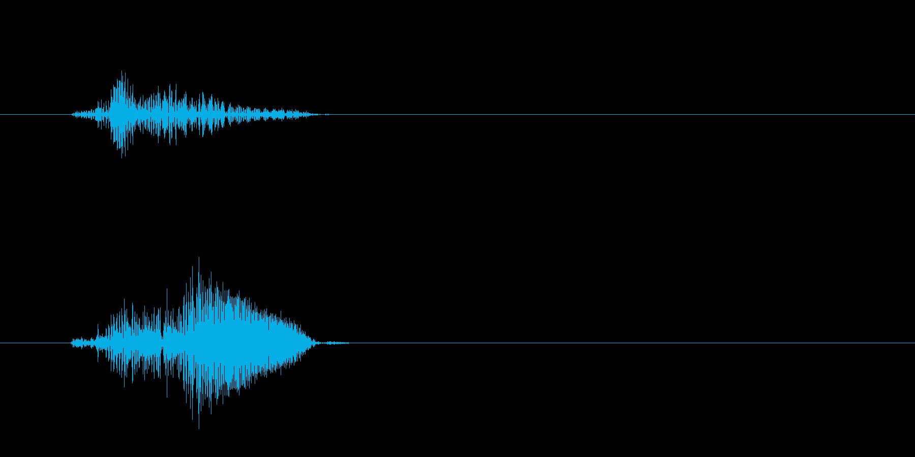 ピュッ(鳥の鳴き声の様な効果音)の再生済みの波形