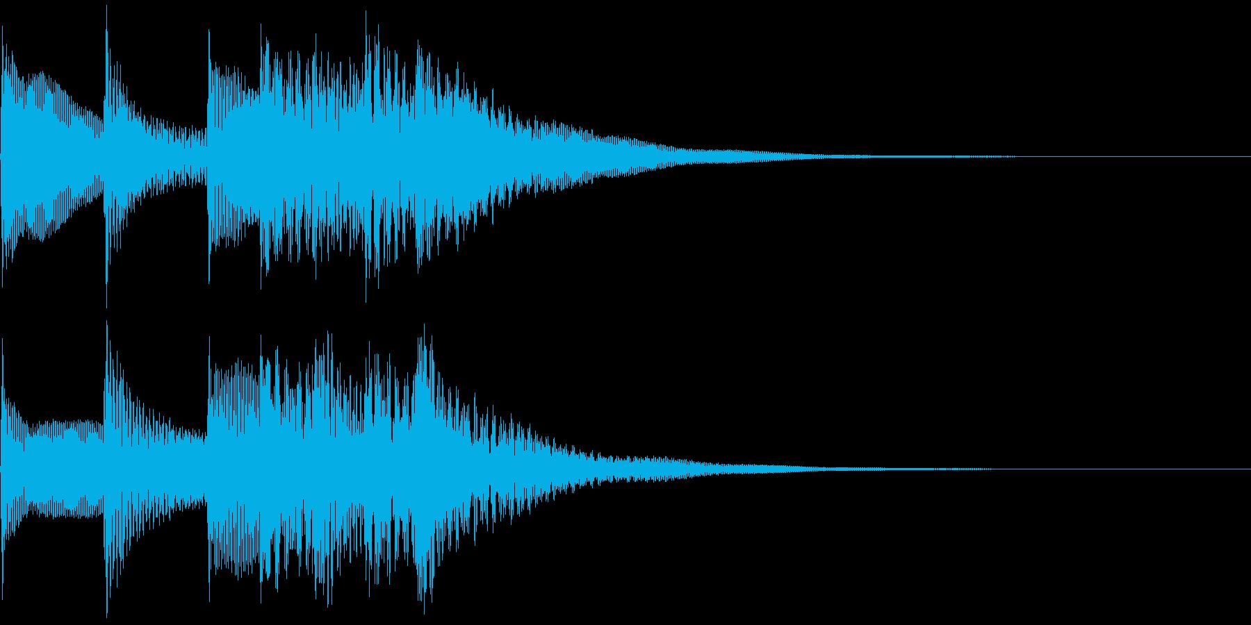 不愉快な効果音の再生済みの波形