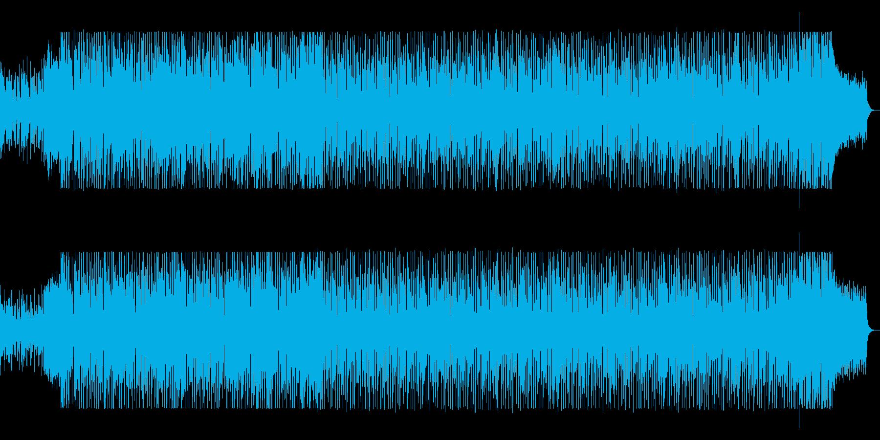 シンセの躍動感ある軽快なポップスの再生済みの波形
