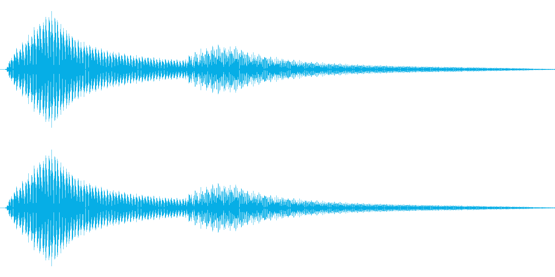 ボタン押下や決定音_ポロッ!の再生済みの波形