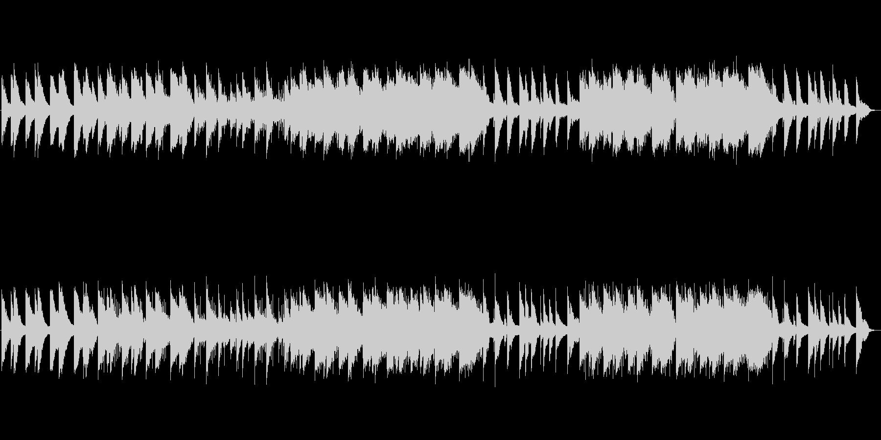 ピアノによる感動的なサウンドトラックの未再生の波形