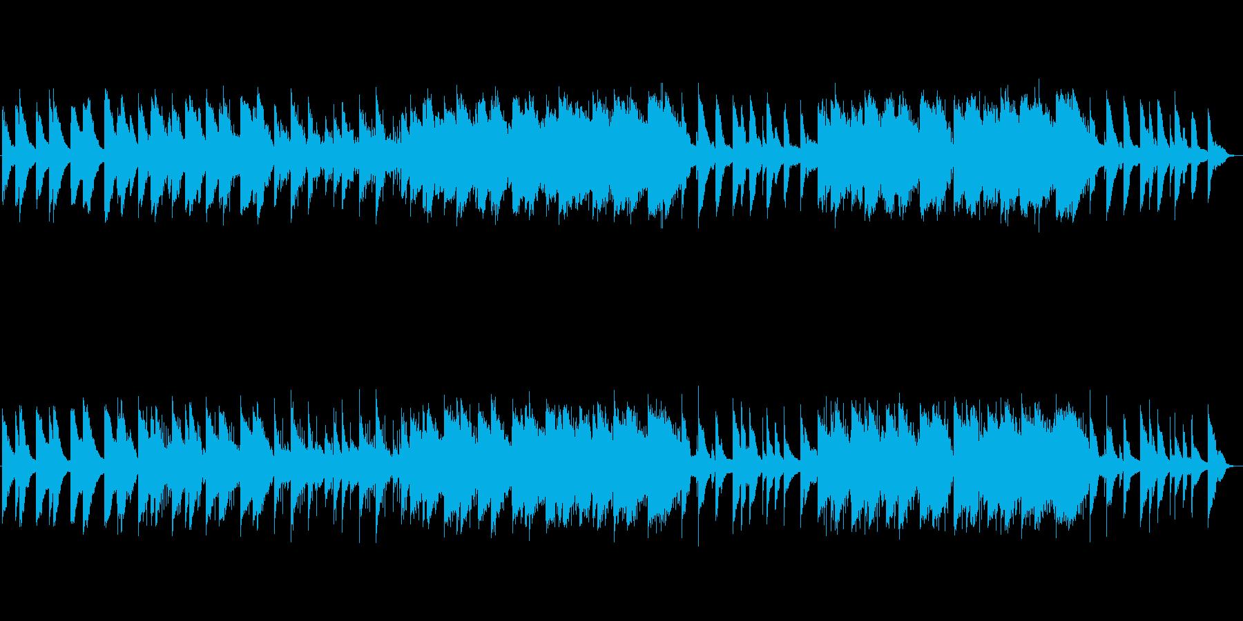 ピアノによる感動的なサウンドトラックの再生済みの波形