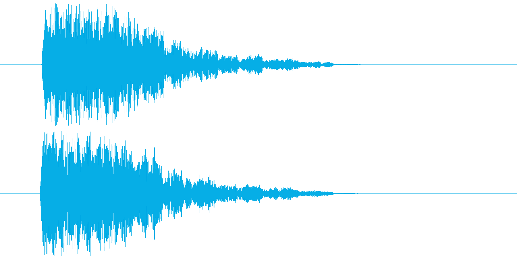 インパクト(ガラス金属風)の再生済みの波形