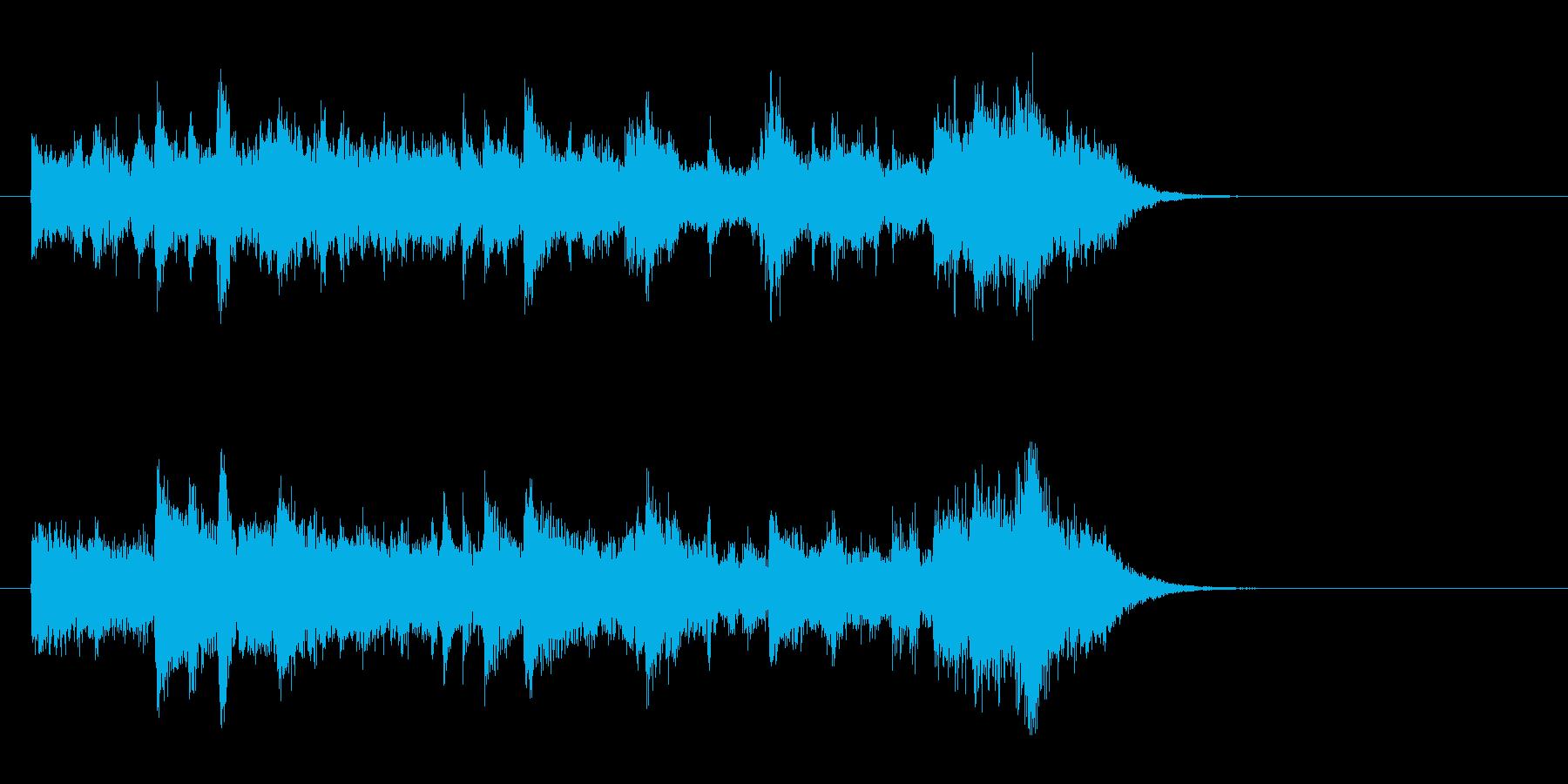 ドキュメント風ポップス(イントロ)の再生済みの波形