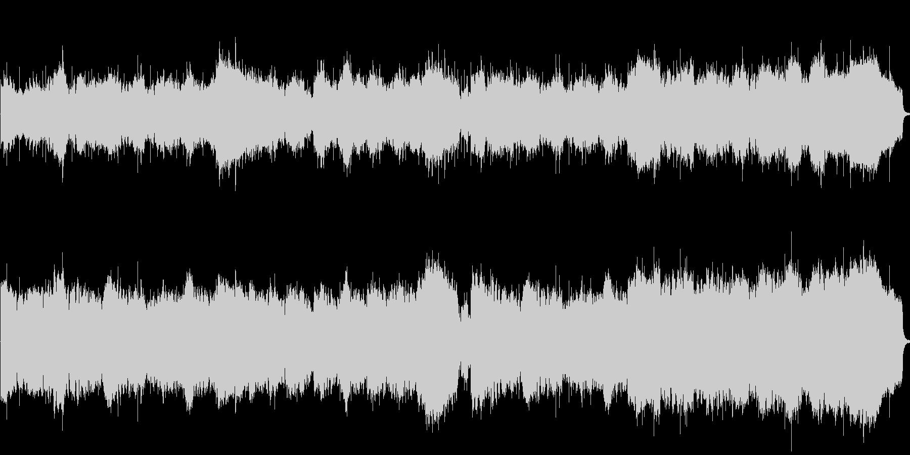 1分の曲です。爽やかなジャズフュージョ…の未再生の波形