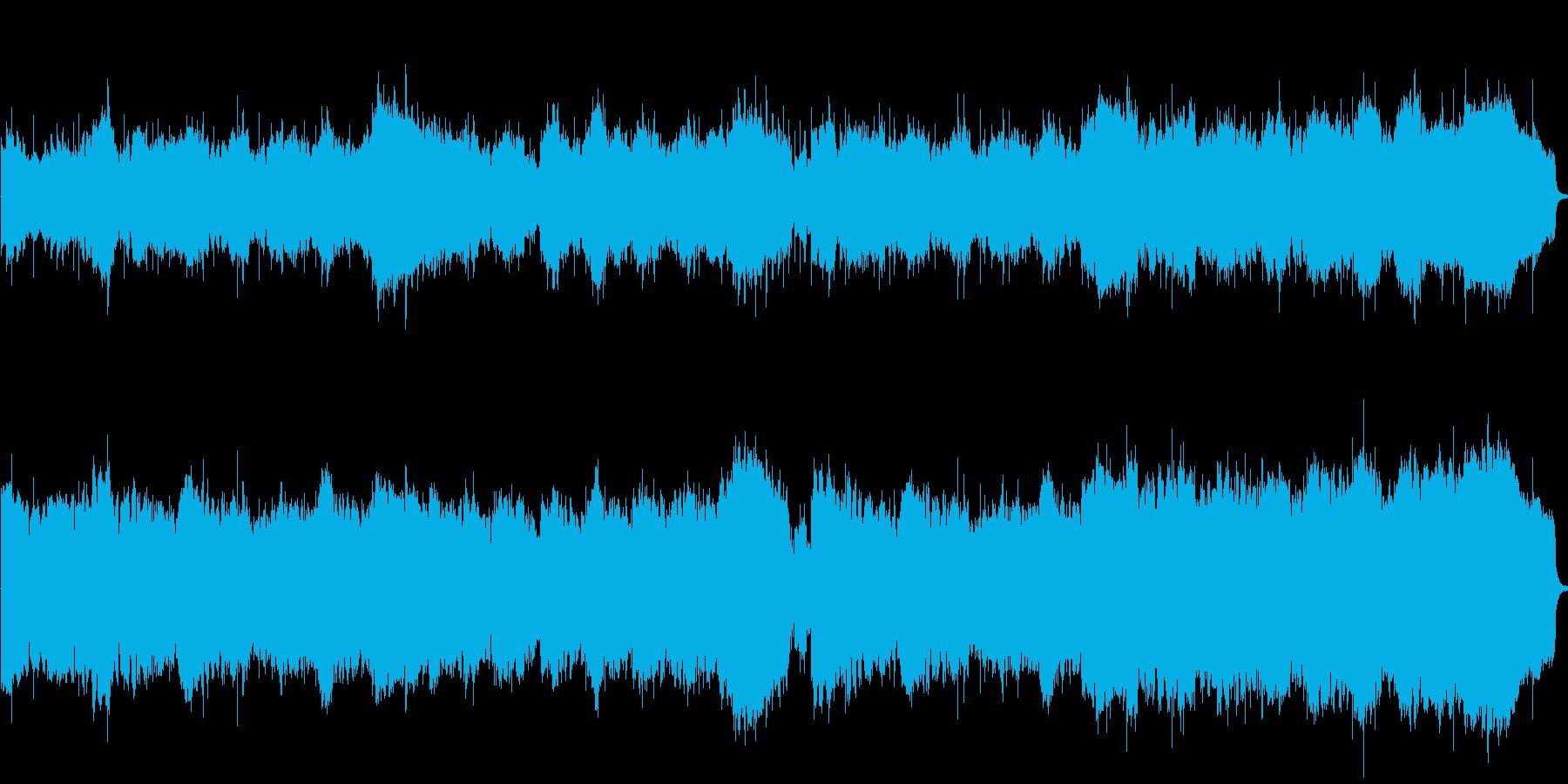 1分の曲です。爽やかなジャズフュージョ…の再生済みの波形