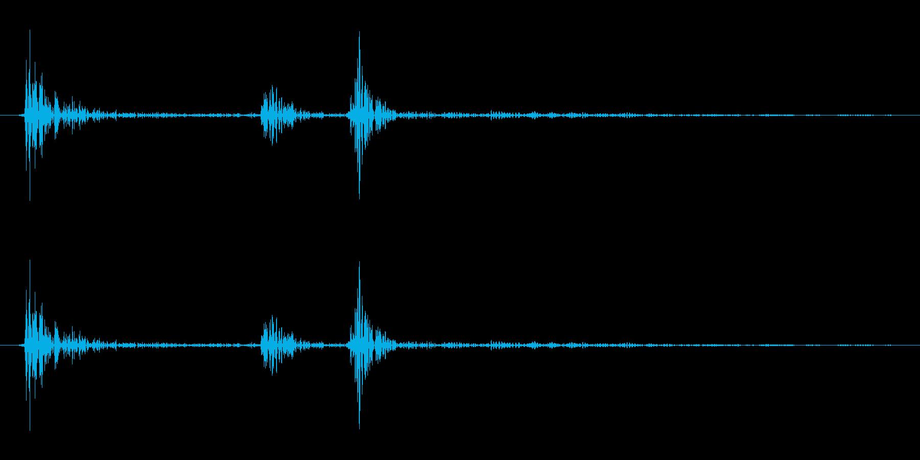 カチッ(装着/スイッチ/指ぱっちん)の再生済みの波形