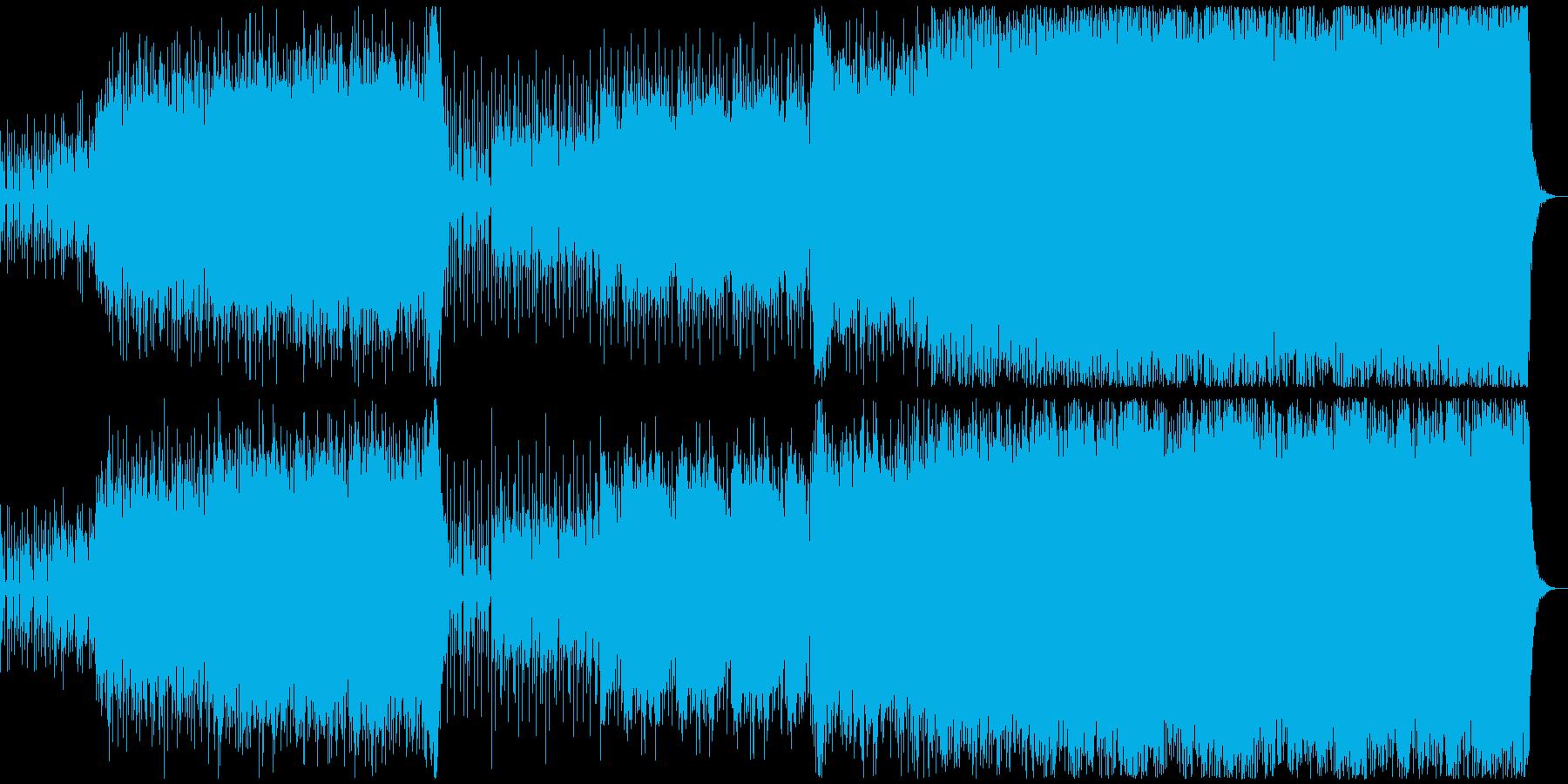 銃撃戦をイメージした緊張感あるサウンドの再生済みの波形