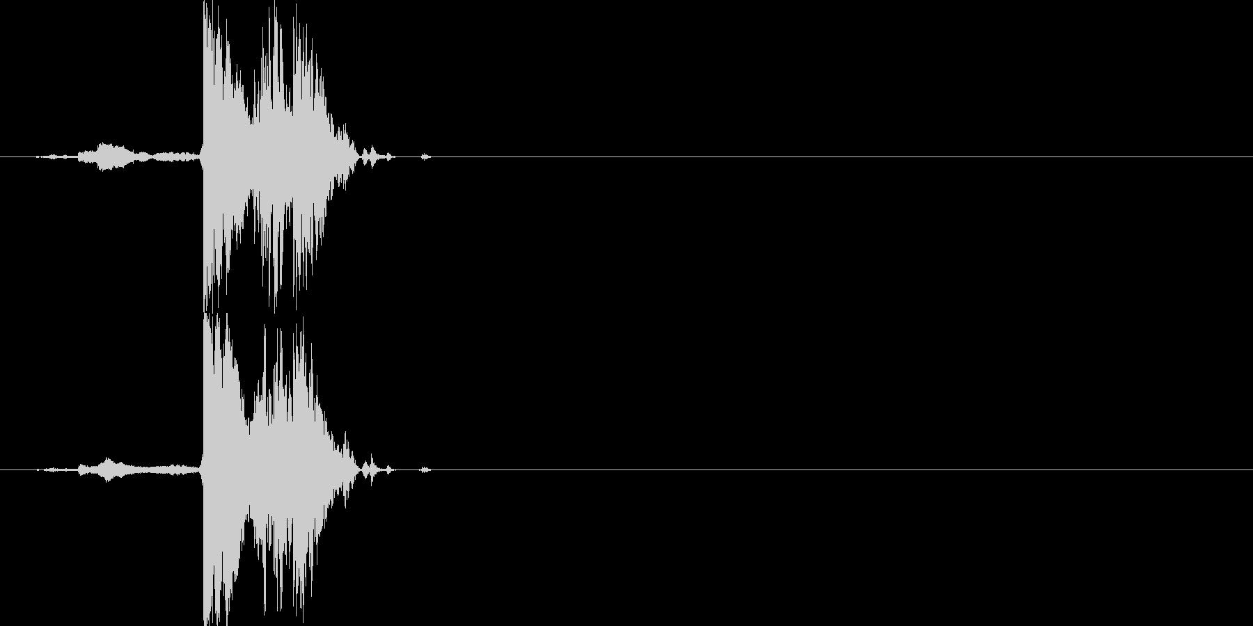 チャリン(短い、複数音)の未再生の波形