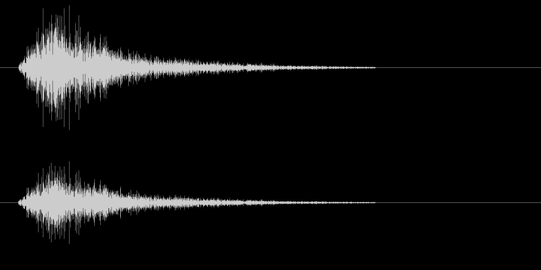 シャタン(シンプルでアクセントになる音)の未再生の波形