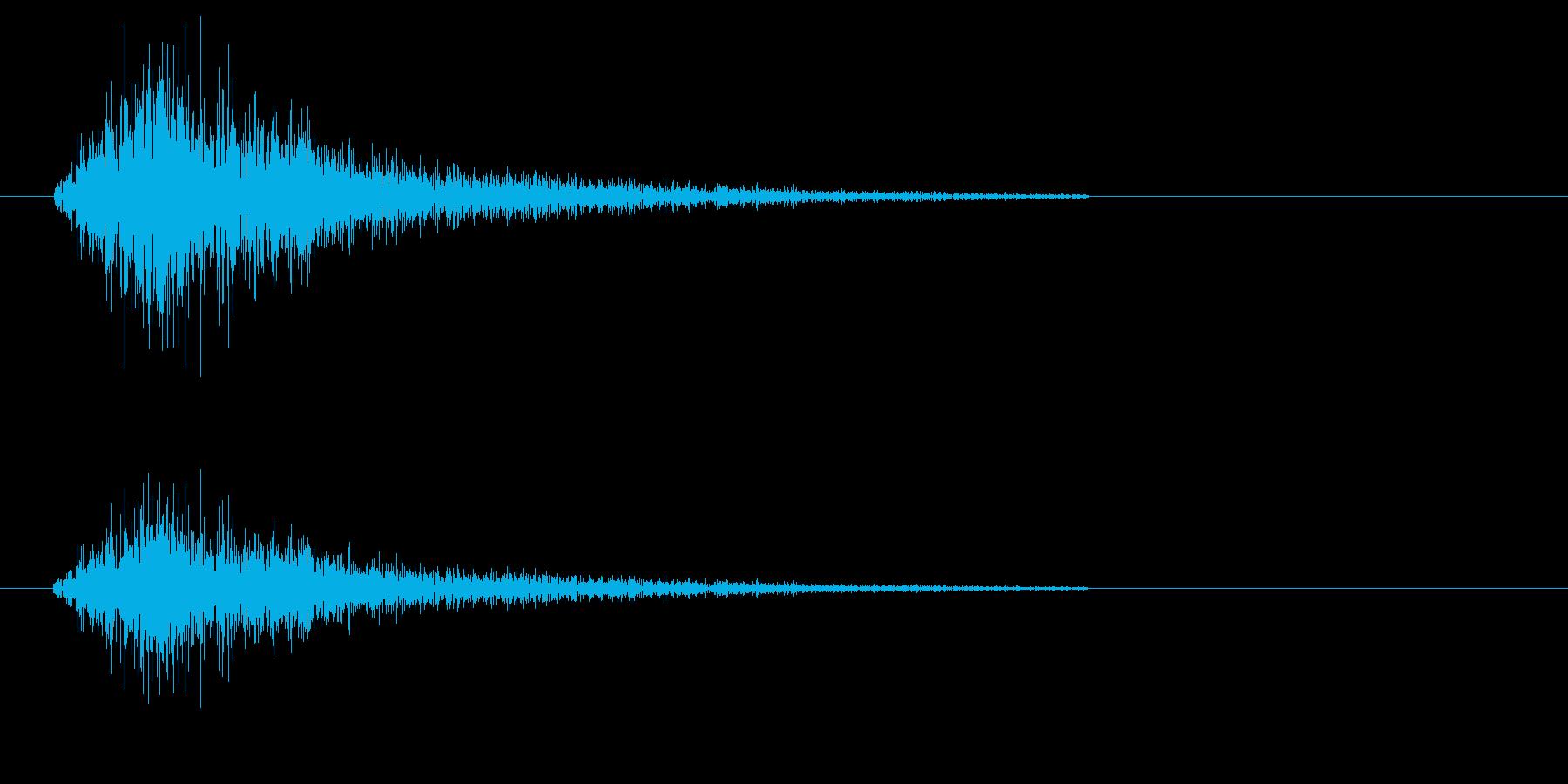 シャタン(シンプルでアクセントになる音)の再生済みの波形