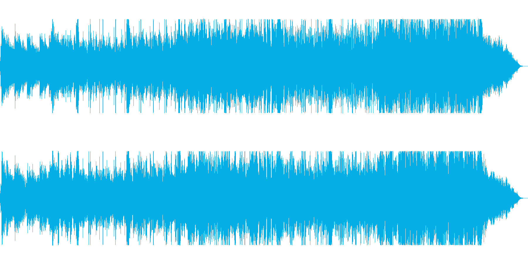 壮大なアドベンチャーソングの再生済みの波形