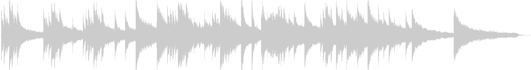 CM・企業VP用、60秒尺のピアノ楽曲の未再生の波形
