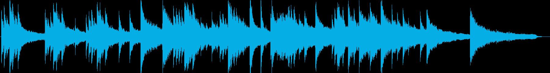 CM・企業VP用、60秒尺のピアノ楽曲の再生済みの波形
