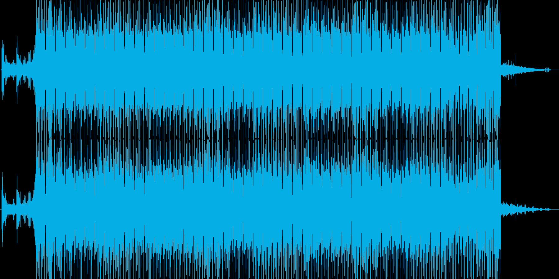 ジャングルで流れるドラムンベースの再生済みの波形