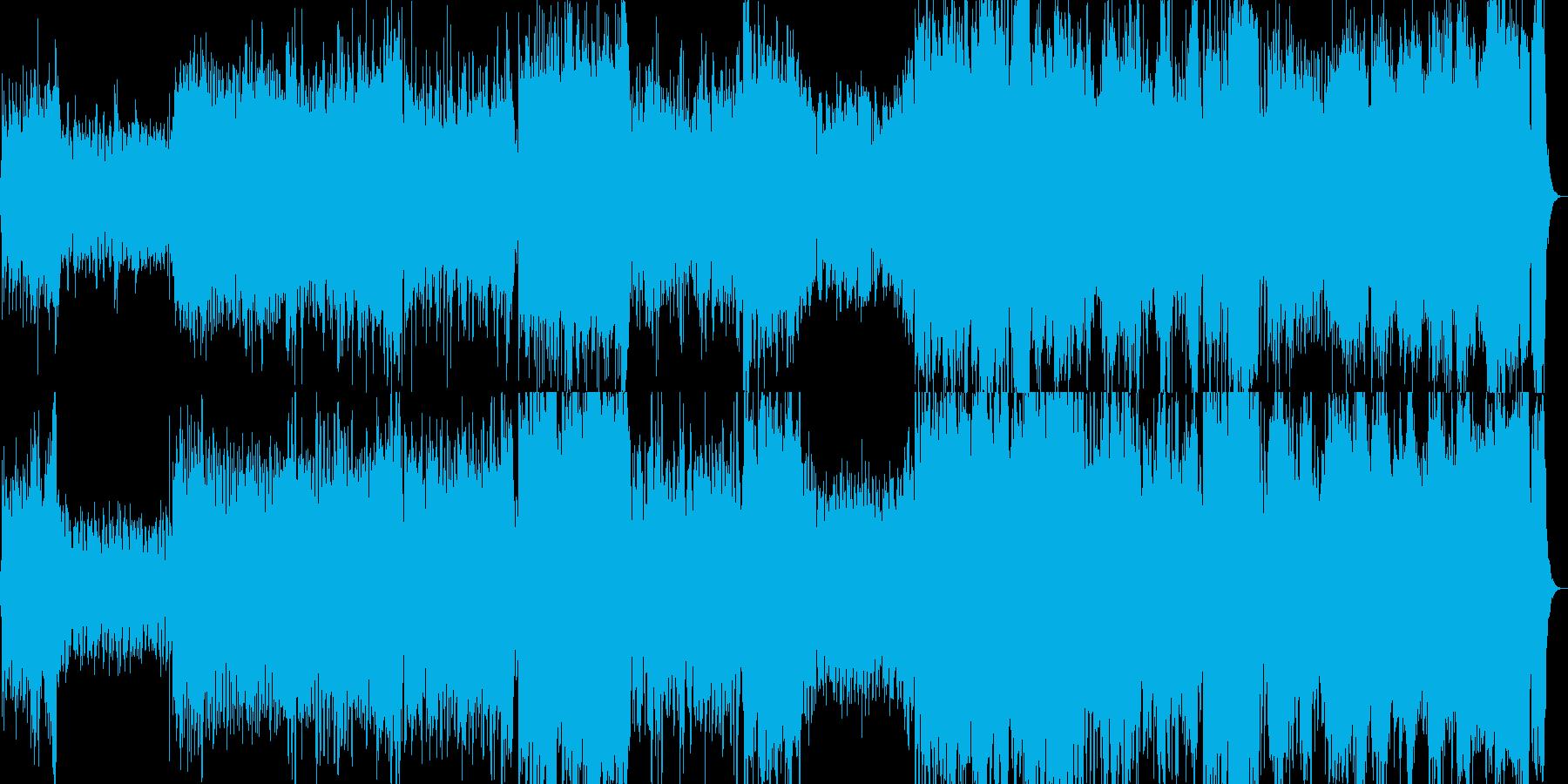 元気で明るい行進曲・マーチ(壮大)の再生済みの波形