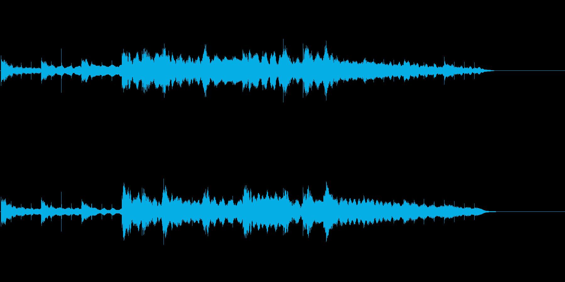 和楽器による儚い雰囲気のジングルの再生済みの波形