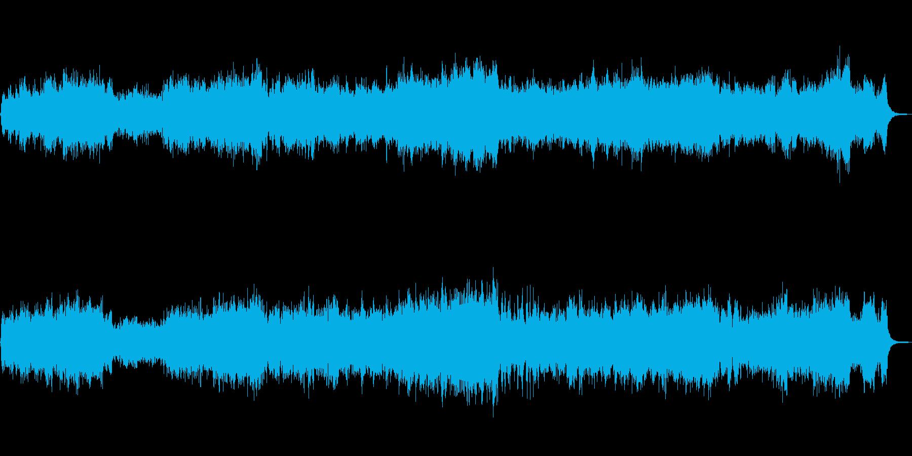 ネオクラシカルで攻撃的なバイオリン曲の再生済みの波形