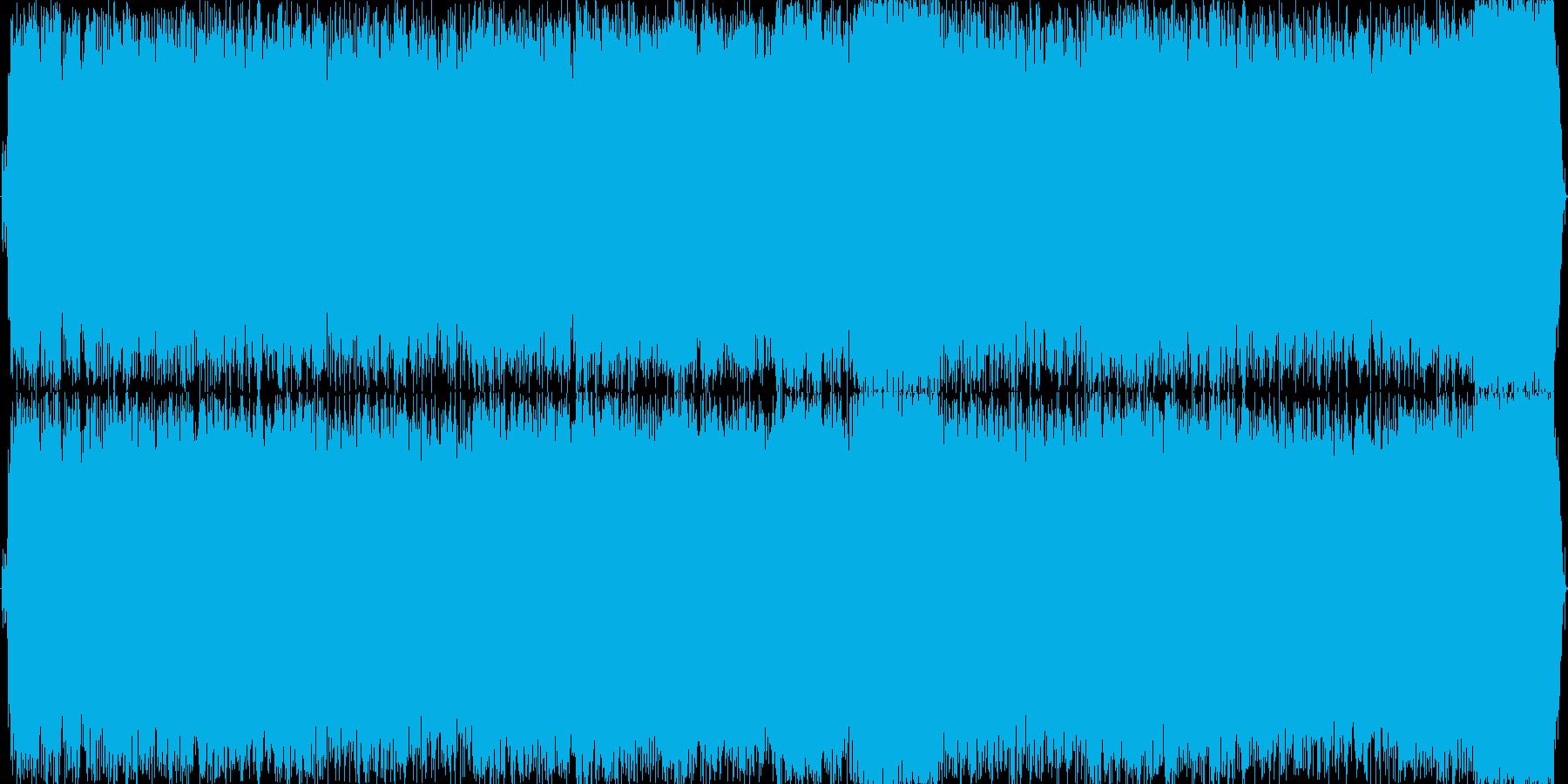 情熱的なギターソロによるハードロックの再生済みの波形