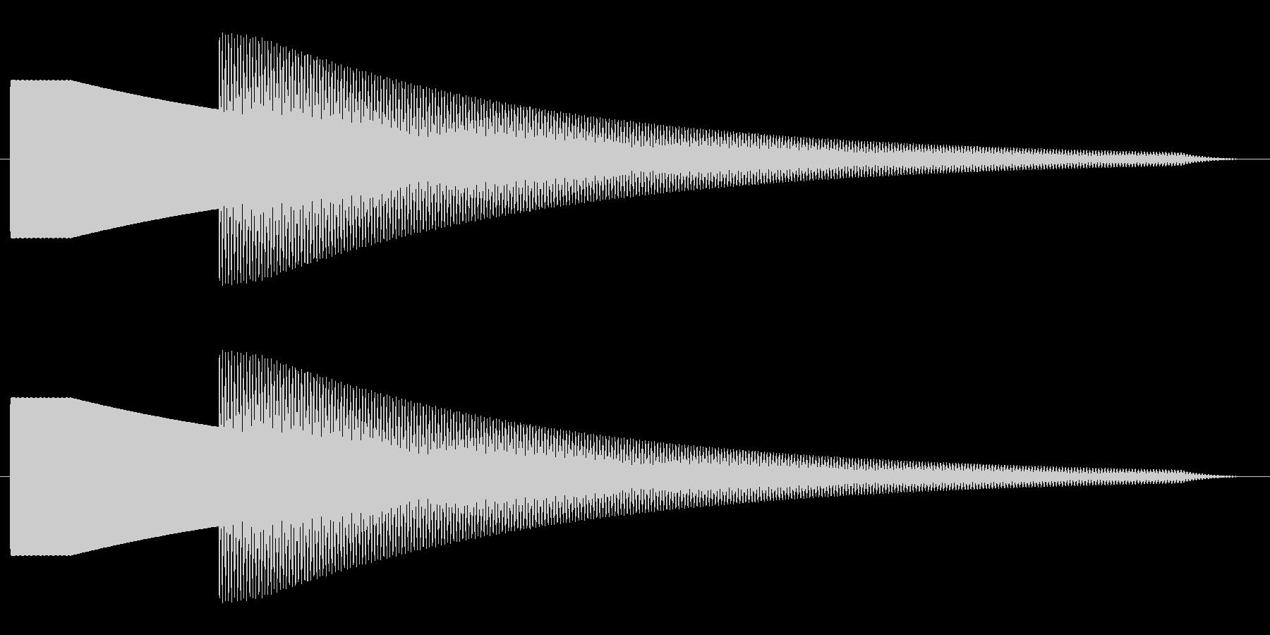 【効果音】ドアチャイム1の未再生の波形