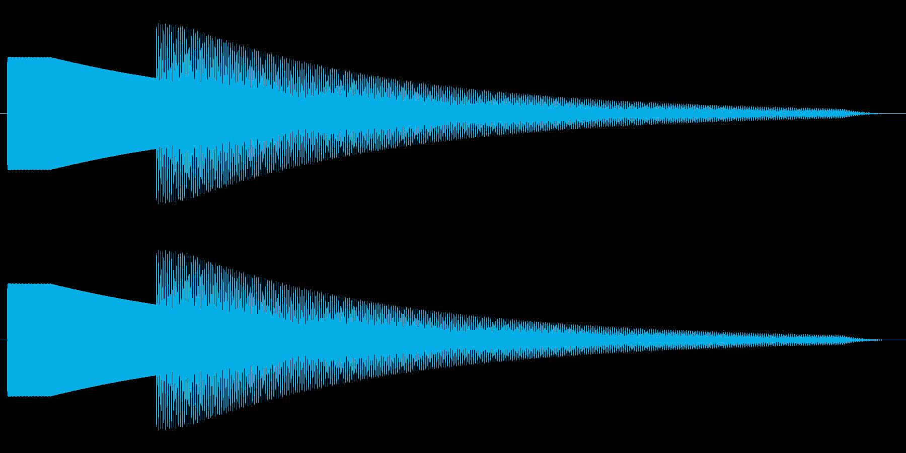【効果音】ドアチャイム1の再生済みの波形