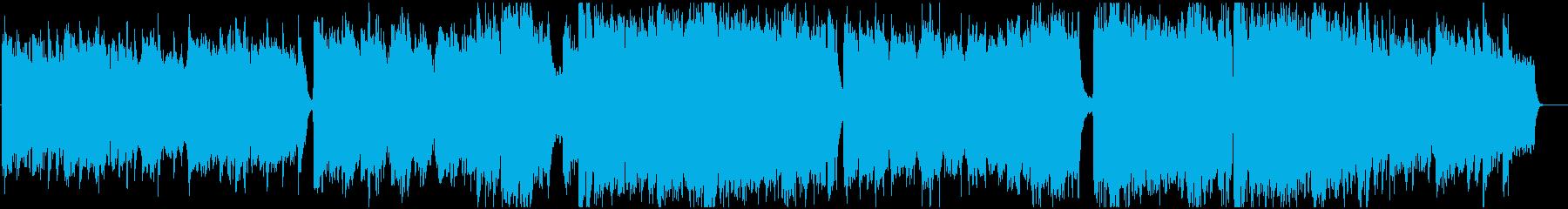 ドラマチックでストーリー性のあるBGMの再生済みの波形