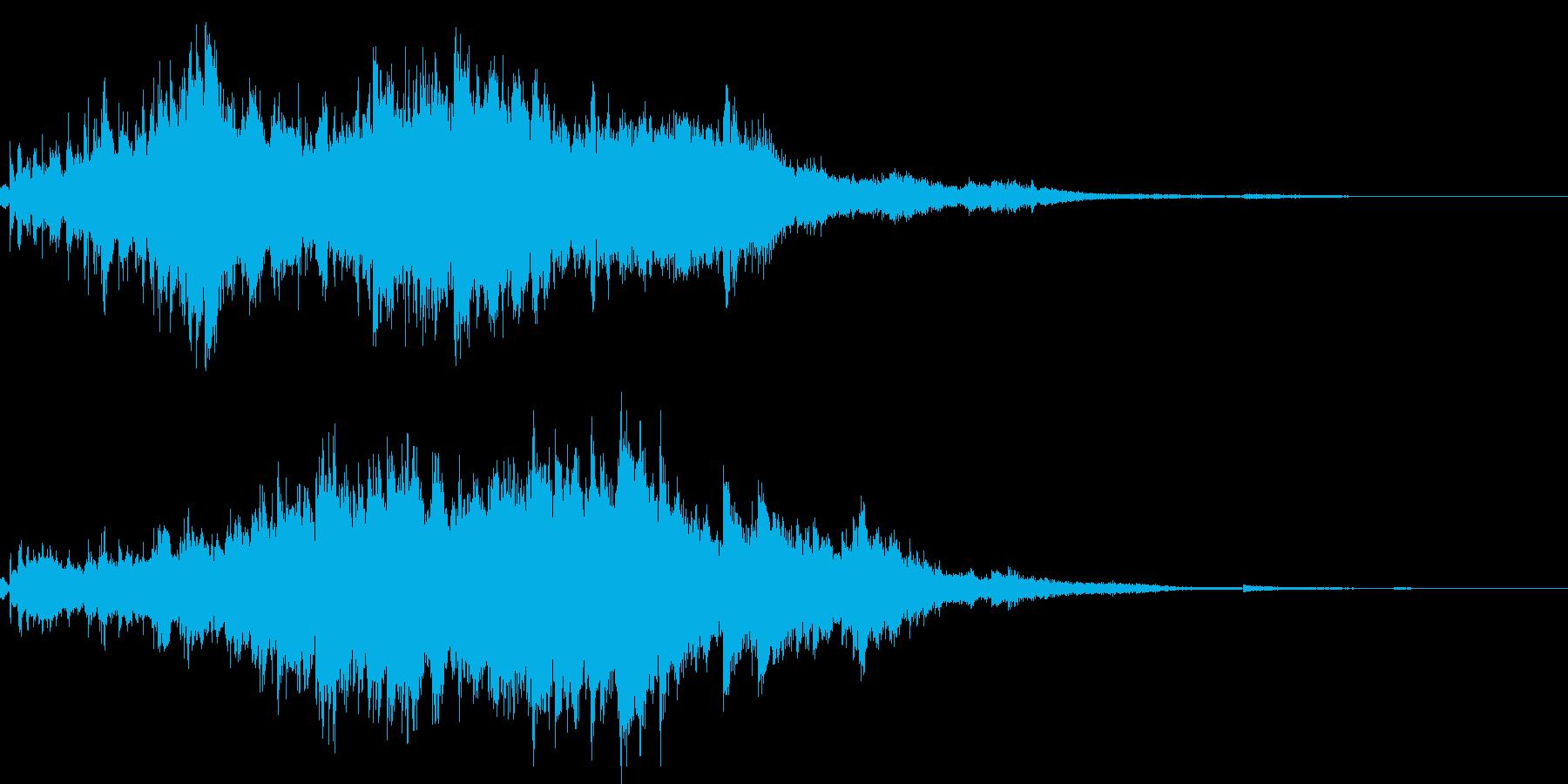 素敵な演出に綺麗なキラキラ音4(長め)の再生済みの波形