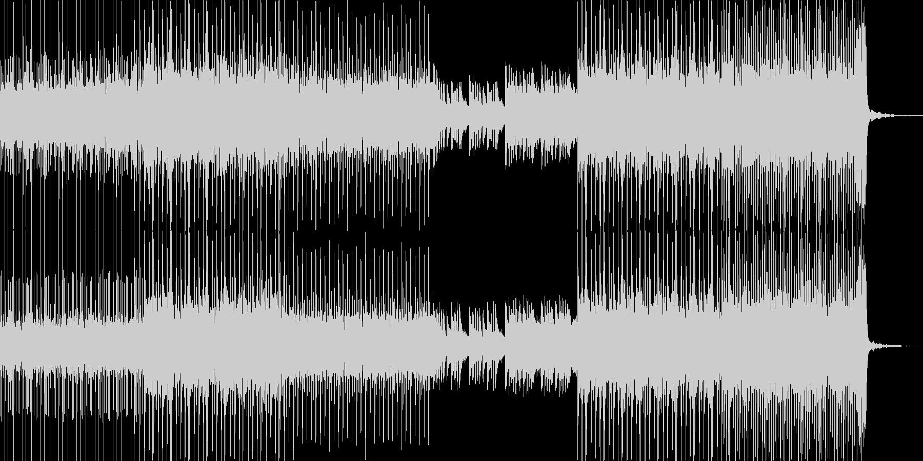 ミステリアスな雰囲気が漂うサスペンスな曲の未再生の波形