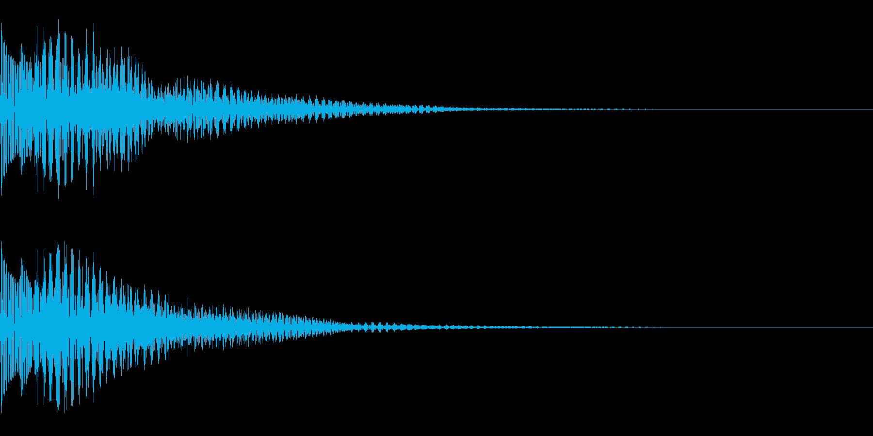 カーソルの決定音やお知らせ音の再生済みの波形