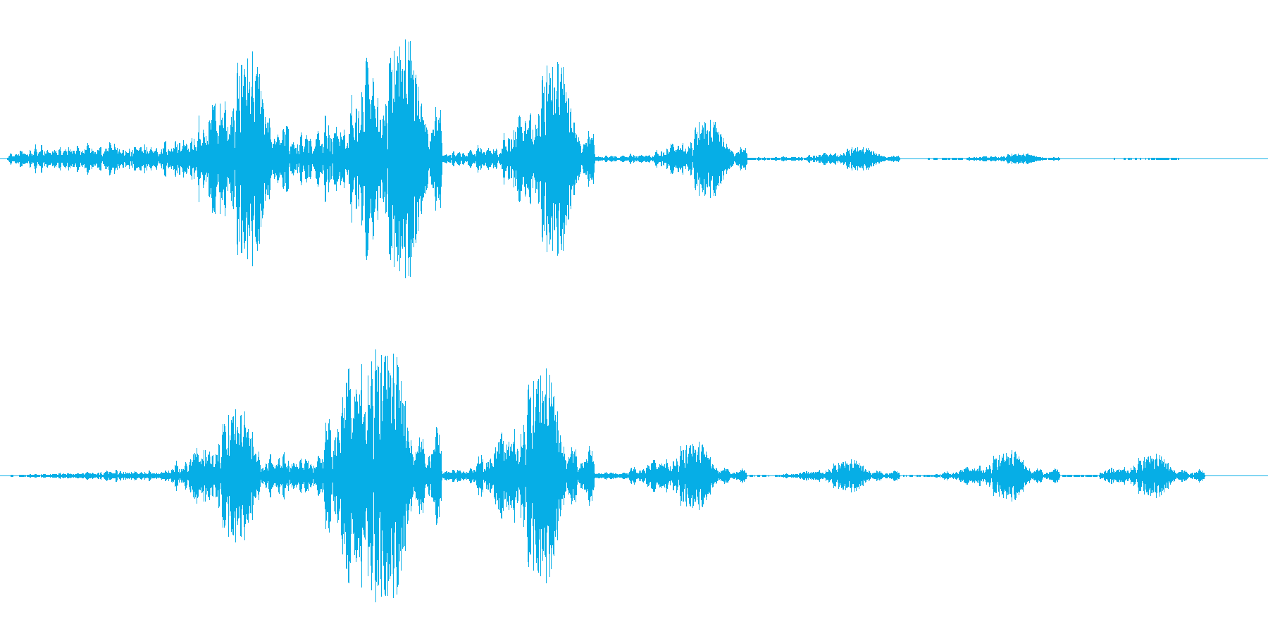 グーフワンフワン(通過音)の再生済みの波形