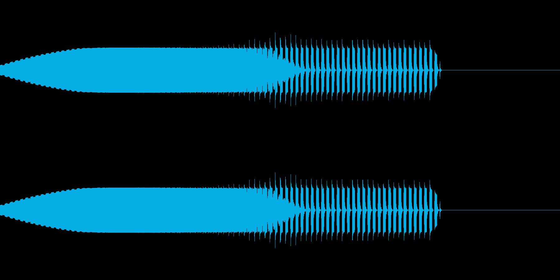ピュオーキュルルルルの再生済みの波形