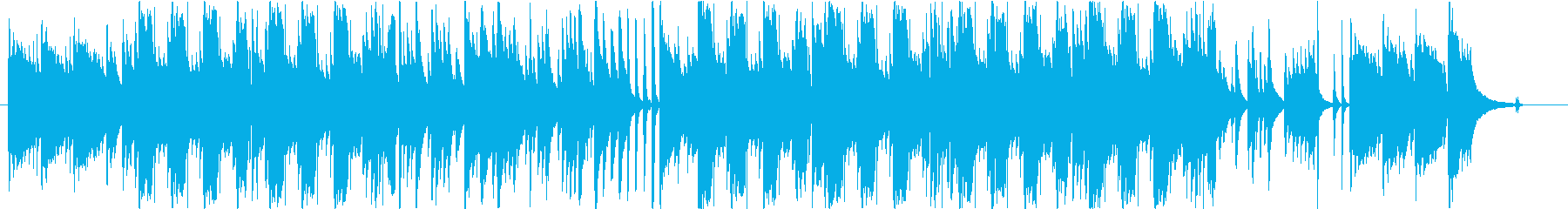 ギターとリコーダーのぽかぽかした曲の再生済みの波形