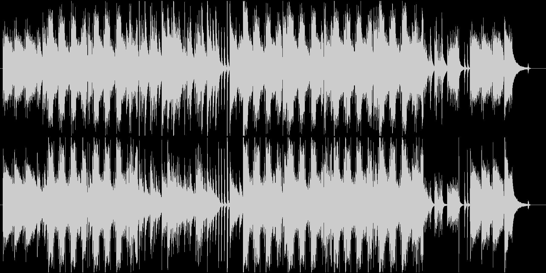 ギターとリコーダーのぽかぽかした曲の未再生の波形