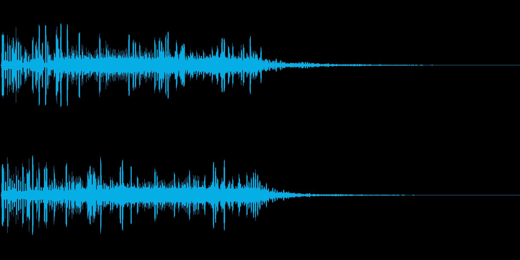 宇宙的・機械的な電子音の再生済みの波形