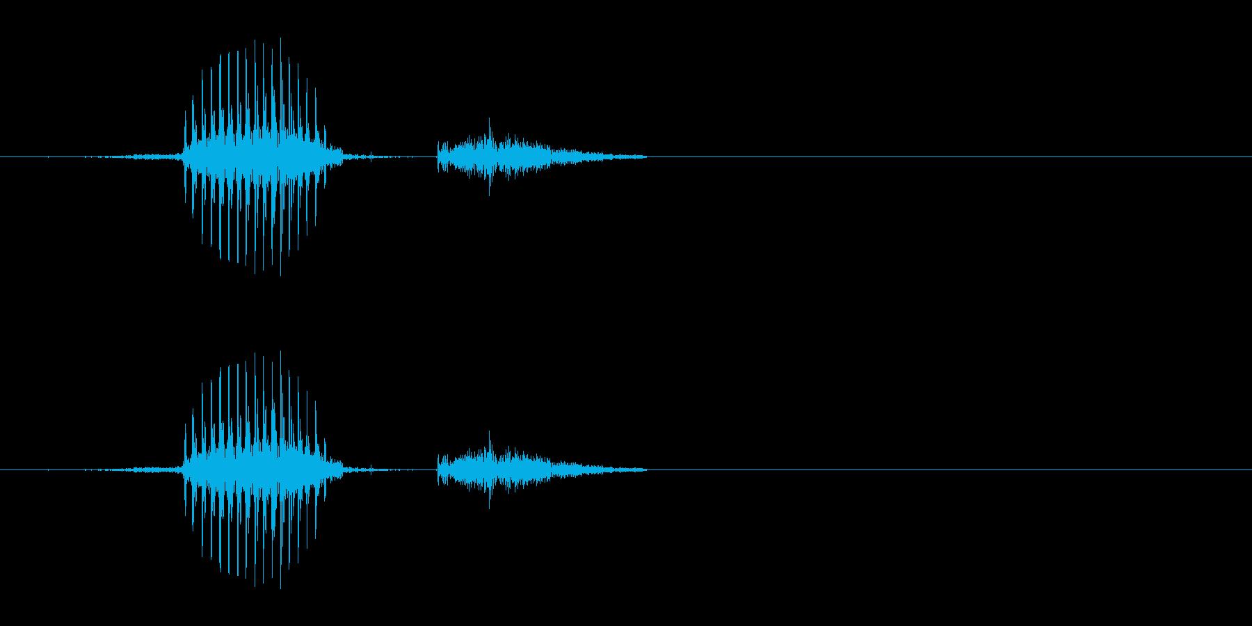 発(麻雀)の再生済みの波形