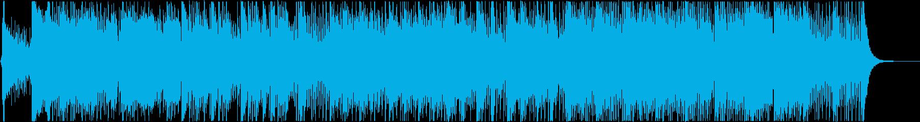 和楽器を中心とした穏やかで少し厳かな曲の再生済みの波形